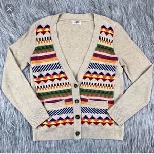 MADEWELL tribal wool cardigan small EUC